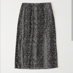 Abercrombie Side Slit Midi Skirt